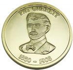 Pat Garret Collectible Medallion - Gold Finish